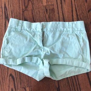 Sea green JCrew chino shorts